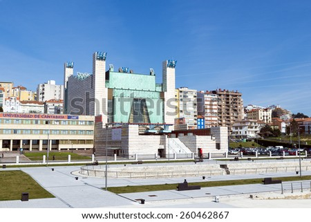 SANTANDER, SPAIN - MARCH 10, 2015: The new Festival palace in the city of Santander, Cantabria, Spain