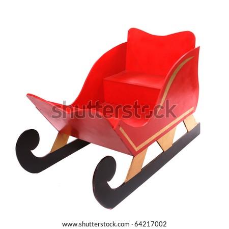Santas Sleigh Christmas - stock photo