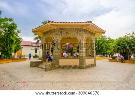 SANTIAGO, PANAMA - APRIL 19, 2015: City Centre, Santiago is one of the largest towns in Panama and a major transportation hub for the region. - stock photo