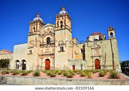 Santo Domingo Church in Oaxaca quarter view - stock photo