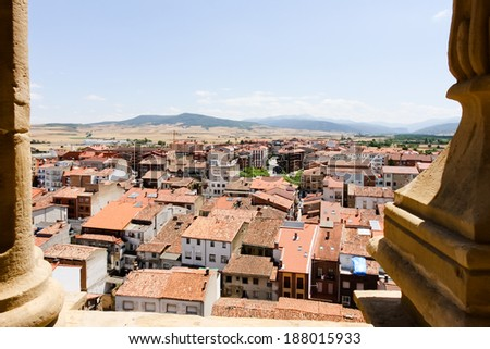 SANTO DOMINGO DE LA CALZADA, SPAIN - JULY 8, 2009: Santo Domingo de la Calzada is one of the small towns in the Pilgrimage route to Santiago de Compostela.