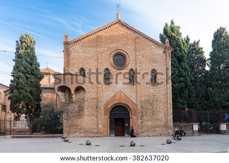Santo Stefano also called Seven Churches in the old town of Bologna - stock photo