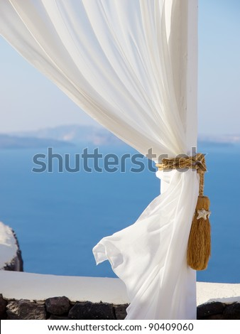 santorini environment - stock photo