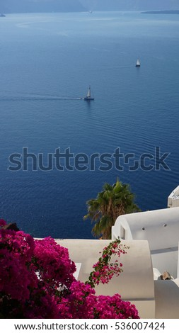 Santorini island, Oia traditional village caldera view, Cyclades, Greece