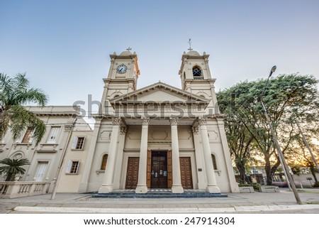 Santos Justo y Pecador y Nuestra Senora de los Dolores church in Colon, Entre Rios province, Argentina - stock photo
