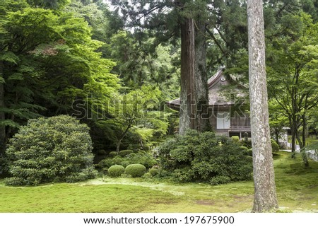 Sanzen-in Temple in Kyoto, Japan - stock photo