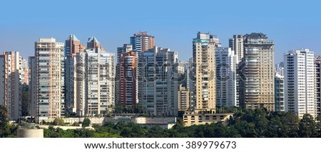 Sao Paulo, Brazil - May 03 2015 : An estimated 20 million people live in greater Sao Paulo, making it the third-largest metropolis on earth. On May 03, 2015 Sao Paulo, Brazil.