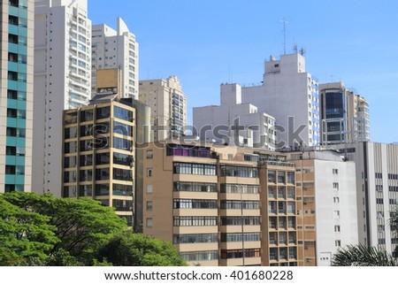 Sao Paulo, Brazil. Skyline of modern architecture. - stock photo