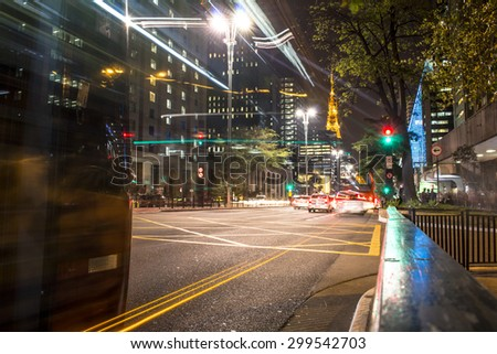 Sao Paulo, Brazil, SP, July 23, 2015. Transit in Paulista Avenue. This is one of the most important thoroughfares of the city of Sao Paulo, one of the main financial centers of the city