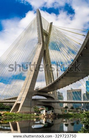 Sao Paulo bridge in Brazil