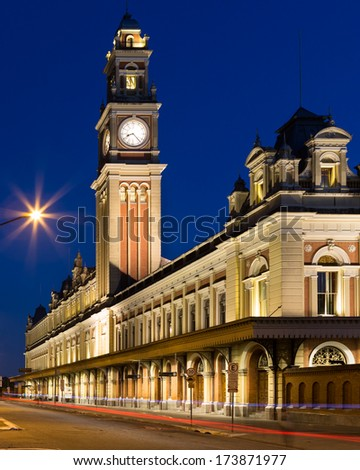 Sao Paulo - January 28: Luz Station is the common name for a railway station in the Luz neighborhood. The station is part of the metropolitan rail system - Sao Paulo, Brazil, January 28, 2014.