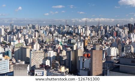 Sao Paulo skyline - stock photo