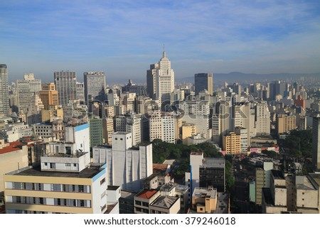 Sao Paulo skyline in the morning - stock photo