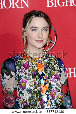 Saoirse Ronan at the 27th Annual Palm Springs International Film Festival Awards Gala held at the Palm Springs Convention Center in Palm Springs, USA on January 2, 2016. - stock photo