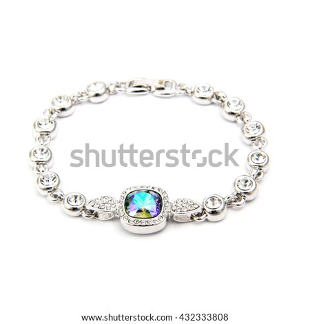 Sapphire Bracelet isolated on white