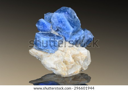 Sapphire crystals from Southern Urals, Russia.  - stock photo