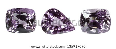 Sapphire Jewel on white background - stock photo