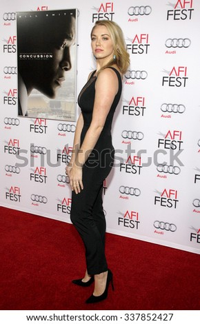 "Sara Lindsey at the AFI FEST 2015 Centerpiece Gala Premiere Of Columbia Pictures' ""Concussion"" held at the TCL Chinese Theatre in Hollywood, USA on November 10, 2015."