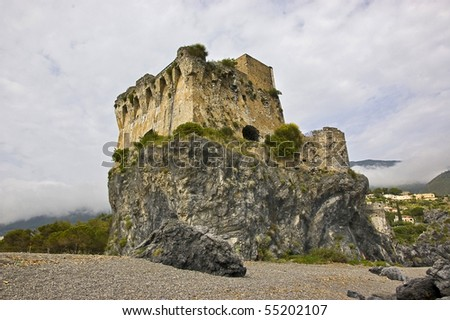 saracen watch tower in south of italy