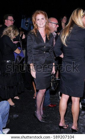 Sarah Ferguson inside for Gwen Stefani for LAMB 2006 Spring/Summer Fashion Show, The Roseland Ballroom, New York, NY, September 16, 2005
