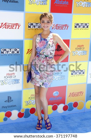 Sarah Hyland at the Variety's Power Of Youth held at the Paramount Studios in Hollywood, USA on September 15, 2012.   - stock photo