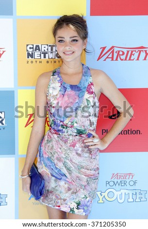 Sarah Hyland at the Variety's Power Of Youth held at the Paramount Studios in Los Angeles, United States on September 15, 2012.  - stock photo
