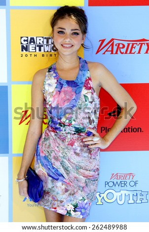 Sarah Hyland at the Variety's 6th Annual Power Of Youth held at the Paramount Studios in Hollywood on September 15, 2012.  - stock photo