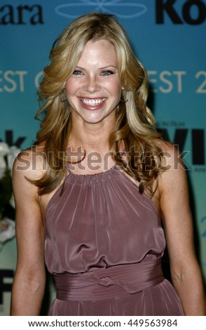 Sarah Jane Morris at the Women In Film Presents The 2007 Crystal and Lucy Awards held at the Beverly Hilton Hotel in Beverly Hills, USA on June 14, 2007. - stock photo