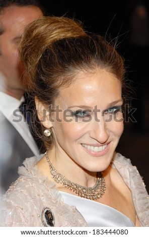 Sarah Jessica Parker at Opening Night Party for Mobile Art CHANEL Contemporary Art Container by Zaha Hadid, Rumsey Playfield in Central Park, New York, October 21, 2008 - stock photo