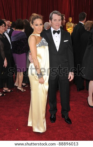Sarah Jessica Parker & Matthew Broderick at the 82nd Annual Academy Awards at the Kodak Theatre, Hollywood. March 7, 2010  Los Angeles, CA Picture: Paul Smith / Featureflash
