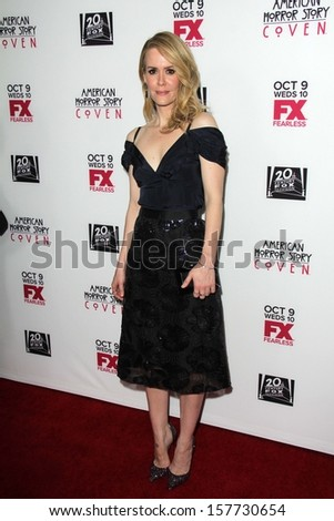 "Sarah Paulson at the ""American Horror Story Coven"" Red Carpet Event, Pacific Design Center, West Hollywood, CA 10-05-13"