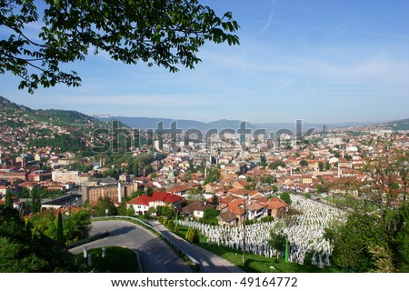 Sarajevo, Bosnia and Herzegovina - cityscape - stock photo