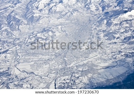Sarajevo, Bosnia and Herzegovina from the air - stock photo