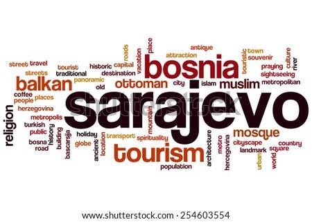 Sarajevo word cloud concept - stock photo