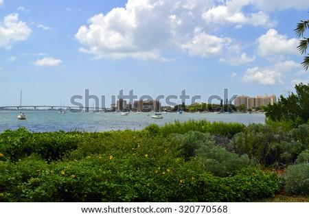 Sarasota Bay in Florida - stock photo