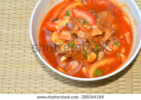 sardine in tomato sauce - stock photo