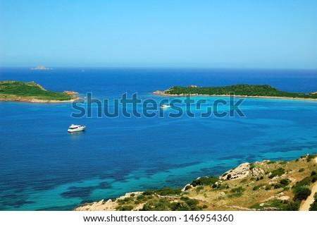 Sardinia - bay in san Teodoro - stock photo