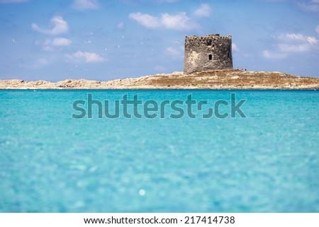 Sardinia Beach - La Pelosa - stock photo