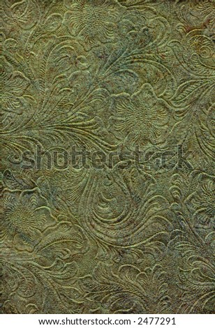 Sargasso Sea Patinaed and Embossed Parchment