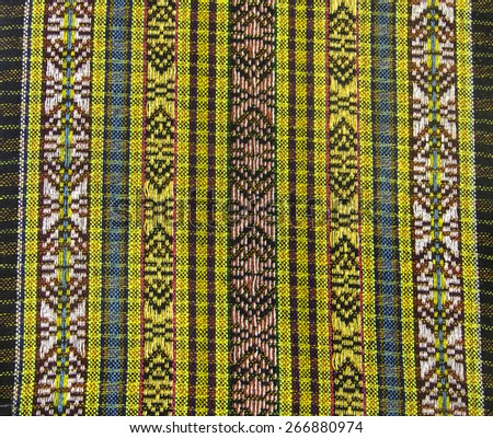 sarong art color weave pattern in asia style - stock photo