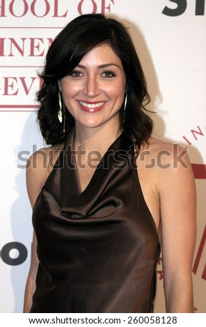 Sasha Alexander at the 75th Diamond Jubilee Celebration for the USC School of Cinema-Television held at the USC's Bovard Auditorium in Los Angeles, United States on September 26 2004. - stock photo