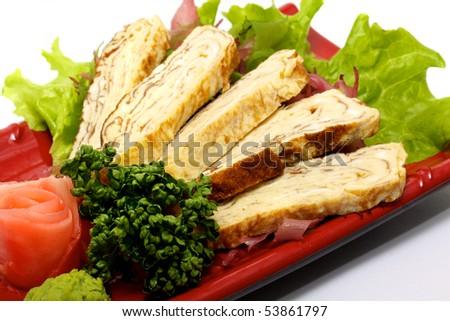 Sashimi (Japanese traditional food) - stock photo