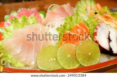 Sashimi, Raw fish Japanese Style - stock photo