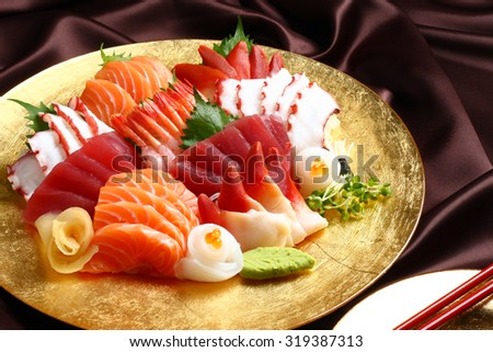 sashimi set, Japanese food