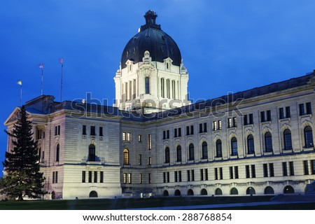 Saskatchewan Legislative Building in Regina, Saskatchewan, Canada