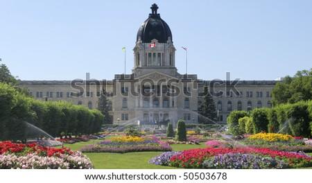 Saskatchewan Parliament, Regina, Canada - stock photo