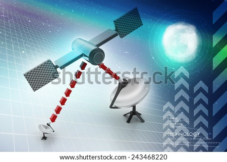 satellite dish antennas - stock photo
