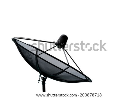 Satellite dish isolate on the white background - stock photo