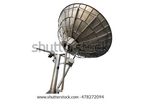 Satellite dish , Isolated on white