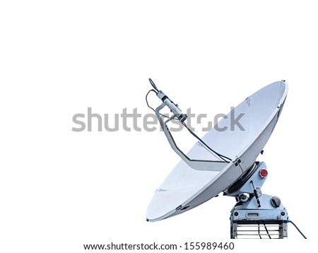 Satellite dish isolated on white background